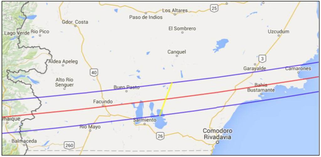 RegiOn del Chubut en la que se podrA ver el eclipse anular de Sol del 26 de febrero de 2017